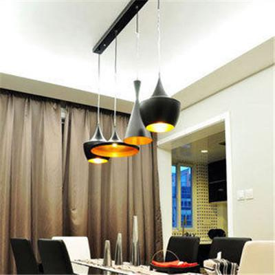 New Tom Dixon Copper Design Shade Pendant Lamp E27 Bulbs Beat Light Ceiling Lamp Black/White Home Decoration 3 Size Instruments Chandelier