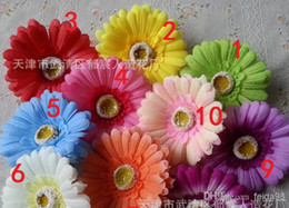 $enCountryForm.capitalKeyWord Canada - Wholesale - Artificial flowers African daisy flower head gerbera hair accessories hair simulation silk flower Gerbera daisy(100pcs lot)
