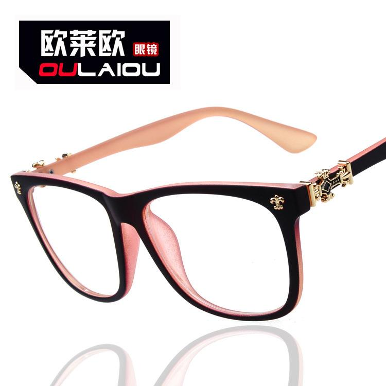Uv400 Handmade Spectacle Frame Flat Glasses Decoration Outdoor Use ...