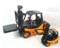 Wholesale Toy Crane Ship - drop ship RC Truck Large Forklift toy,Six-channel Desktop Crane,industry fork car RC Toy (1 :10 )