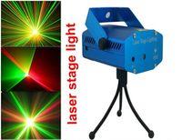 Wholesale Mini Laser Lighting Blue - Blue Mini LED Laser Projector DJ Disco Bar Stage House Lighting Light Galaxy
