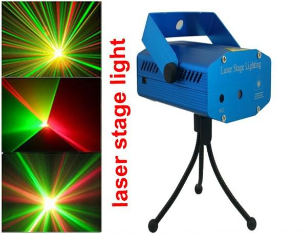 Blue Mini LED Laser Projector DJ Disco Bar Stage House Lighting Light Galaxy
