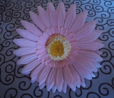 9cm artificiell simulering silke afrikansk daisy gerbera jamesonii blomma huvud för DIY bröllopsfest jewerly dekorativa