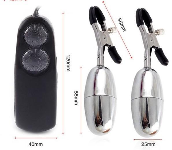 Kvinnor Nippelklämmor / Vibrerande Bullet Nippel / Labia Bröstklämma Stimulera / Flirta Vibratorsexleksaker för kvinnor