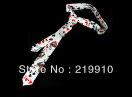 Canada Livraison gratuite 2 pcs / lot Cravate À Motif De Carte - Blanc - Astuce Magique, Fun Magic, Party Magic. Offre