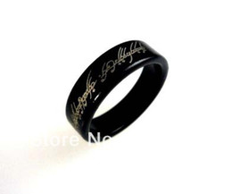 $enCountryForm.capitalKeyWord NZ - Free Shipping 2 pcs lot Black Wizard PK Ring Magnetic With Letter (available 18,19,20mm) --Magic Trick, Fun Magic, Party Magic.