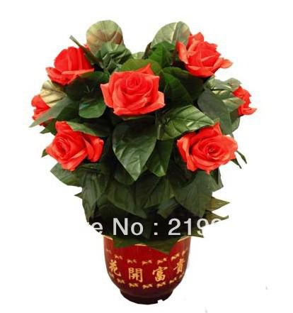 Free Shipping Remote-Control Blooming Flower Bush 10 Flowers