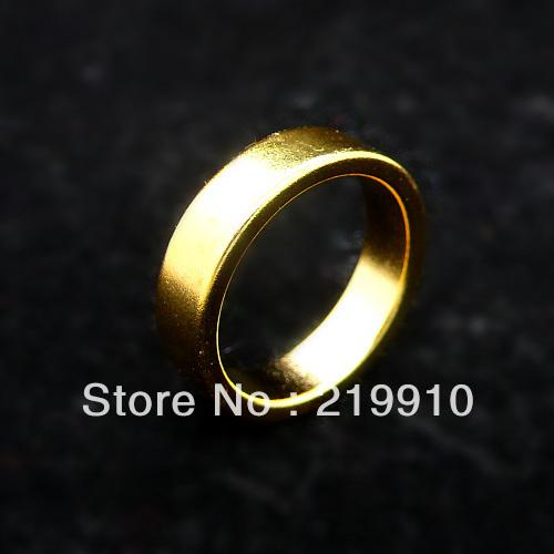 Free Shipping 2 pcs/lot Golden Wizard PK Ring Magnetic Ring (available at 18,19,20mm) --Magic Trick, Fun Magic, Party Magic.