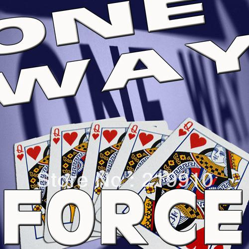 Free shipping One Way Force Deck Magic Tricks