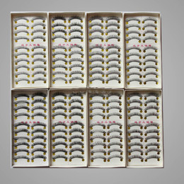 Wholesale Wholesale Hair Extensions Boxes - 10 box=100 pairs lot Hot sales Long Natural False Hand-Made Eyelashes eyelash MakeUp Extension lashes (10 pairs same style in each box)