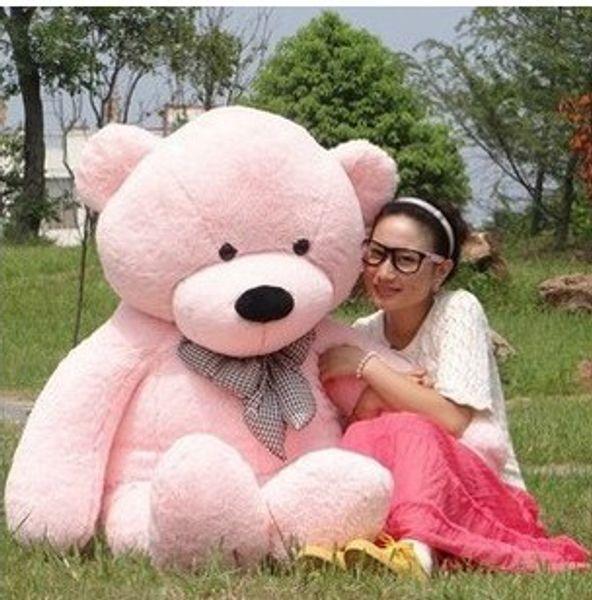 "Hot Sale 6 FEET TEDDY BEAR STUFFED LIGHT BROWN GIANT JUMBO 72"" size:180cm birthday gift"