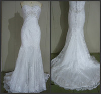 Wholesale 2014 new hot sale In Stock Wedding Dresses A line floor length sweetheart sweep train sleeveless sequins sweetheart zipper