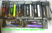Ego CE4 kits con Vision Spinner Ego-C Twist Batería 650mah 900mah 1100mah Variable Voltaje 3.3-4.8V con EGO Cargador USB Blister Embalaje