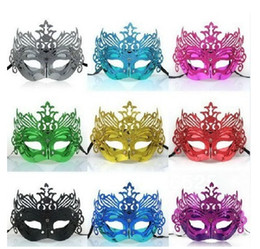 Discount masquerade crowns - 36pcs!Halloween Masquerade party Mask   Crown Venetian Christmas Half face Mask   flower slice Mask 7color choice