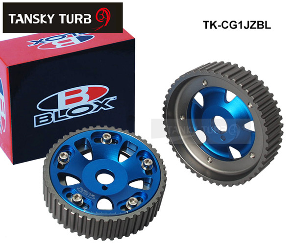 best selling Tansky - Adjustable Cam Gears Pulley Timing Gear for TOYOTA Supra 1JZ 2JZ,TE (Red,Blue) Default Color is Blue TK-CG1JZBL