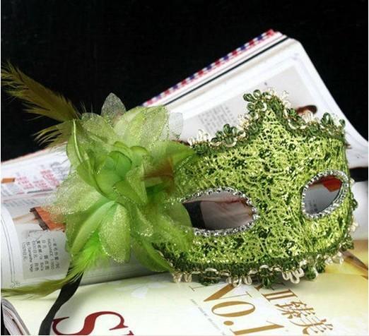 Vente chaude Venise partie masques dentelle de diamant en dentelle exquise lady Masks Masquerade princesse masque avec fleur