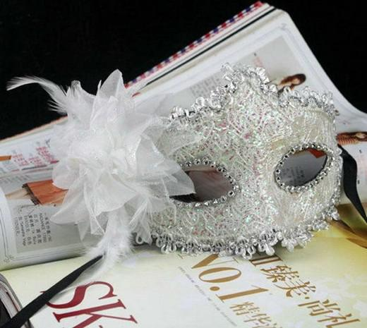 Hot sale Venice party masks exquisite lace diamond leather lady Masks Masquerade princess mask with flower