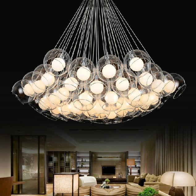 Modern Art Glass Chandelier European Style Creative Pendant Lights Dining Room Lighting Fixture Pl249 Pendant L& Cord String Pendant L& From Alex_quan ... & Modern Art Glass Chandelier European Style Creative Pendant Lights ...