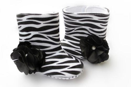 New Spring Autumn Winter Baby Kids Boots Zebra Black Big Flower 0-2Year Toddler Boys girls First Walker Boots Infant Shoes 12pair/lot Melee