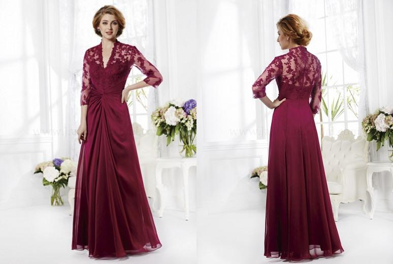 2014 Stunning Mother Of The Bride Dresses Lace Applique