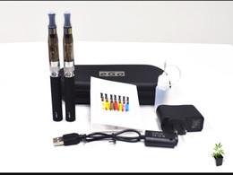 Wholesale Ego Ce4 Dual Kits - ego CE4+ kit 2 Electronic Cigarettes kits CE4+ Atomizer 650mah 900mah 1100mah Battery Dual E Cigarette kits Zipper Case 10ml Empty bottle