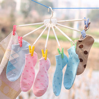 Wholesale Hangers Umbrella Shaped Drying Rack Socks Underwear Clip Wall Hooks