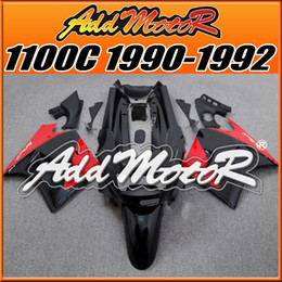 Wholesale Kawasaki 1992 - Addmotor Fairing For Kawasaki ZZR-1100C ZZR1100C ZZR 1100C 1990 1991 1992 90 91 92 Red Black K1131+5 Free Gifts