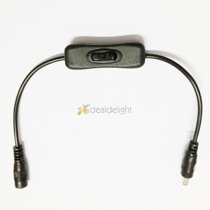 LED Strip Light Wire Switch med Kvinna och Male DC Power Connector Plug 3528/5050 LED Strip Accessary On Sale
