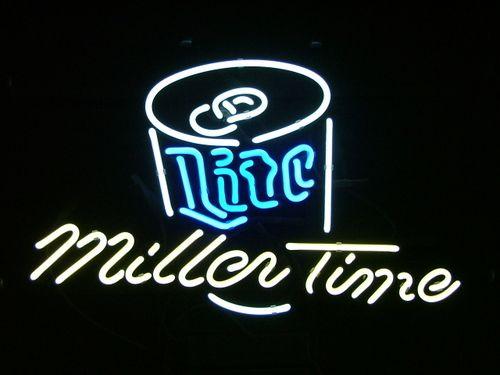 2019 MILLER LITE MILLER TIME BEER BAR PUB NEON LIGHT SIGN