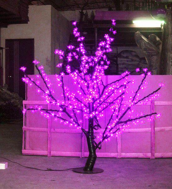 LED Cherry Blossom Tree Light LED-lampor 1,5m Höjd 110 / 220VAC Sju färger för alternativ Rainproof Outdoor Usage Drop Shipping