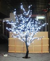 árbol de cerezo llevado al por mayor-Luz del árbol de la flor de cerezo del LED 480pcs Bombillas del LED 1.5m Altura 110 / 220VAC Siete colores para la opción Uso a prueba de lluvia al aire libre Envío de la gota