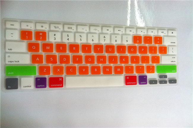 Korea Candy Farben Silikon Tastatur Schutzfolie für MacBook Pro Air Retina 13 15 Zoll wasserdicht staubdicht US Ver. mit Einzelhandelspaket