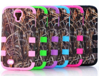 Wholesale Galaxy S4 Camo - Defender Brown Grass Camo Cases For iphone 5 5C iphone4 4 4S Samsung Galaxy S4 S3 Waterproof Case Hybrid Silicone Skin Plastic shell