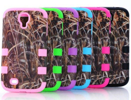 Wholesale Galaxy S3 Camo - Defender Brown Grass Camo Cases For iphone 5 5C iphone4 4 4S Samsung Galaxy S4 S3 Waterproof Case Hybrid Silicone Skin Plastic shell