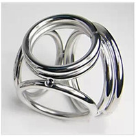 Wholesale Men New Sex Toys - New 2014 Sex Toys Metal Cock Ring Stainless Steel Penis Ring 4-Ring sex ring Cock Cage Cockring Penis sleeve Sex Toys For Man Large Small