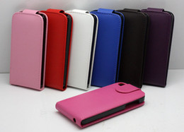 Wholesale S4 Flip Down - Vertical Flip Up and Down Open Leather Case Cover For iPhone 4 4S 5 5S 5C Samsung Galaxy S3 I9300 S4 i9500 mini I8190 I9190 Note 2 3 N7100
