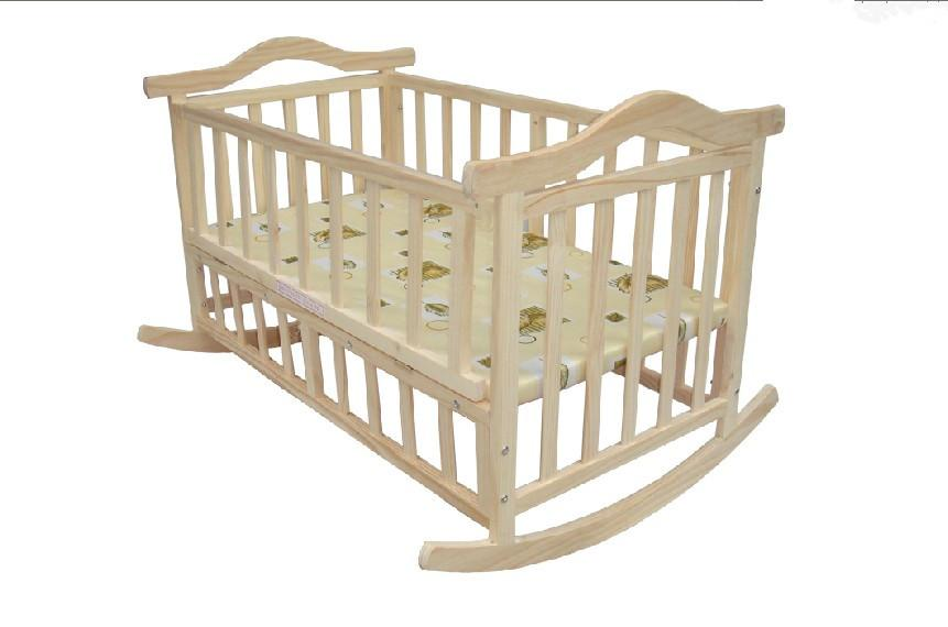 Baby Bed Small Concentretor Paint Eco Friendly Wood Cradle 109