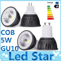 Wholesale Led Mr16 Cob 5w Dimmable - Brand New COB 5W Led bulbs light GU10 E27 E26 MR16 Dimmable led spotlights warm cool white 110-240V 12V + CE ROHS CSA Approved
