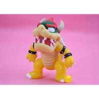 Wholesale 12cm Baby Dolls - Super Mario Koopa bowser pvc doll with red hat Figure Toy 5 inch 12cm Baby Doll figures