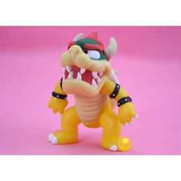 Wholesale Super Mario Koopa - Super Mario Koopa bowser pvc doll with red hat Figure Toy 5 inch 12cm Baby Doll figures