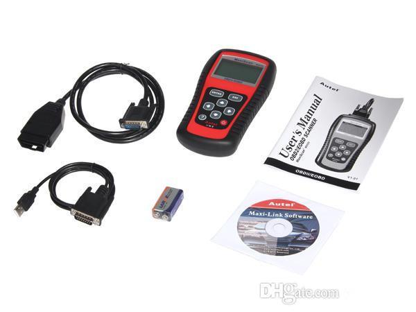 Autel Maxiscan MS509 OBDII / OBD2 EOBD Auto Scanner Scanners Auto Codlezer Werk voor ons Aziatische European Cars 509 Gratis DHL verzending