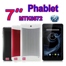 tablet pc mid android red Canada - New 7 Inch phablet MTK6572 Dual Core 3G WCDMA Phone Call Tablet pc Android 4.2 Dual SIM Webcam Wifi Bluetooth GPS MID 512MB 4GB Free DHL