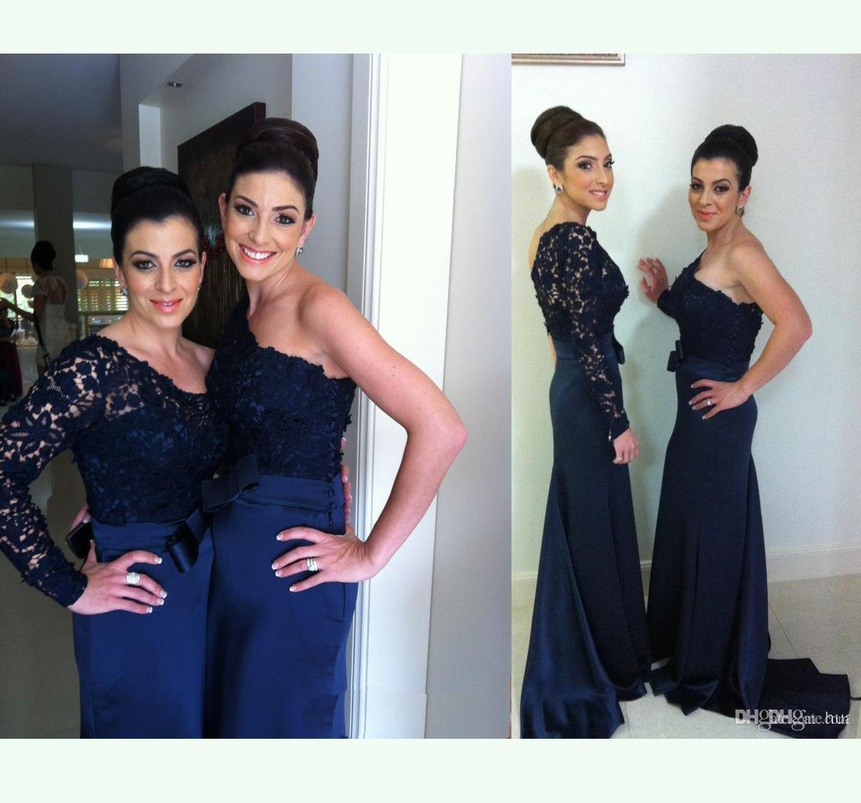 Navy lace bridesmaid dress good dresses 2016 navy lace bridesmaid dresses norma bridal couture mermaid black chiffon evening dresses one shoulder sheer ombrellifo Gallery