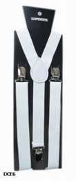 Wholesale Suspender Braces White - Clip-on Adjustable Unisex White Braces Suspenders High quality Y Back Style Suspenders 9 Colors Available DCE6*1