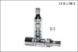 Wholesale Ego Herb Glass Tank Atomizer - 2014 New ecig K3 wax atomizer glass tank Dry Herb clearomizer vaporizer Metal Dip trip Detachable replacement Coil For Ego Battery E cig