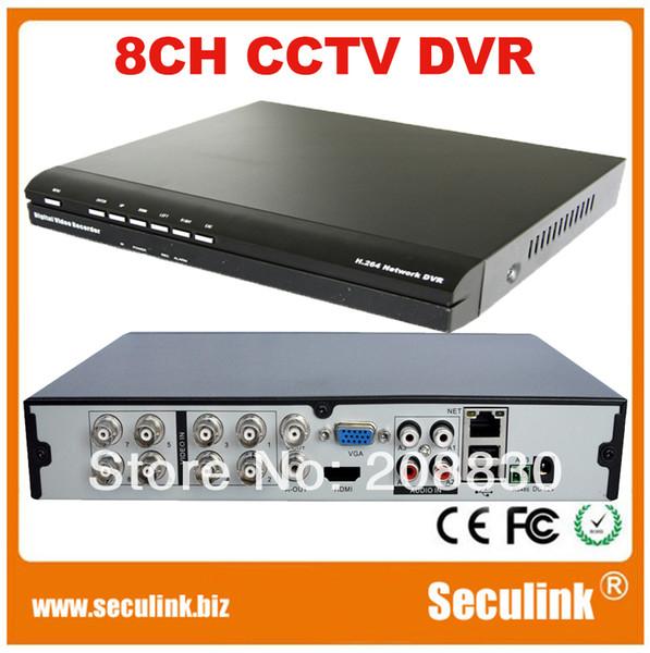 Seculink Dvr Cms Free Software 8 Channel H 264 Network Cctv Dvr Recorder  2*D1+6*CIF Realtime Recording Security Video Recorders Security Video