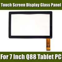 Wholesale Display Screen Q88 - Brand New Touch Screen Display Glass Digitizer Panel Replacement For 7 Inch Q88 A13 Tablet PC MID Repair Parts 1pcs 07PJ-1