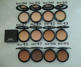 Discount powder wholesale - lowest price! HOT NEW makeup high quality nc color FIX Powders puffs 15g! DHL free shipping