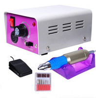 Wholesale Nail Biting - Wholesale - Nail Drill Glazing Manicure Electric Tool File Machine Foot Pedal Bit 30000RPM Professional Nail Art