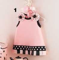 Wholesale Doomagic Clothing - Doomagic Baby Dress pettiskirts baby's Dresses Babywear Flower newborn Jumper Dress Baby Clothes Girl's Gown Ball Tank Tops D138